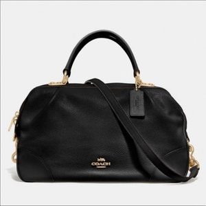 Coach Lane Leather Large Satchel Crossbody Handbag